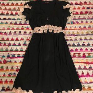 Beautiful silk and lace Betsey Johnson dress